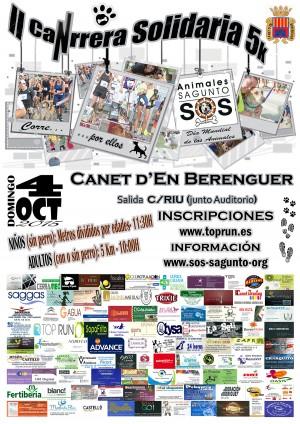 2015 CARTEL II canrrera 5k sos animales sagunto